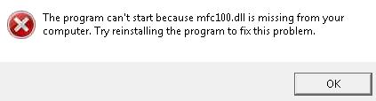 missing mfc100